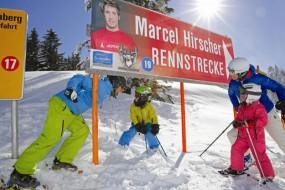 Skifahren im Skigebiet von Weltmeister Marcel Hirscher
